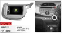 Рамка + android 6,0 dvd плеер автомобиля для honda fit jazz 2013 2008 сенсорный экран Мультимедиа Стерео Авторадио магнитофон головных устройств