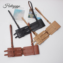 HATCYGGO Sexy Women Wide Leather Belt Female Fashion Adjustable Straps Suspenders Waist Bondage Cage Harness Waistband