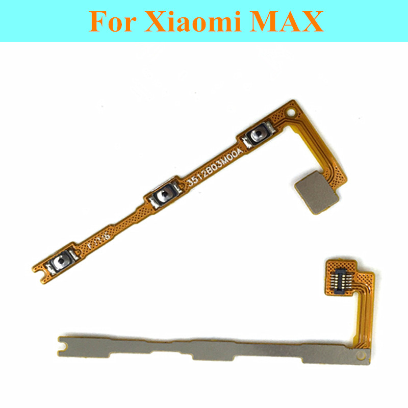 10 Pcs/Lot Original Volume ON OFF Side Button Flex Cable For Xiaomi MAX Mi Max Power Switch Control Key Replacement Parts