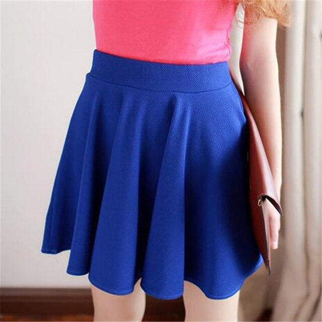 Vdogrir nueva verano gasa plisada falda para las mujeres amarillo mini  falda ropa de moda Niñas 3a019824397a