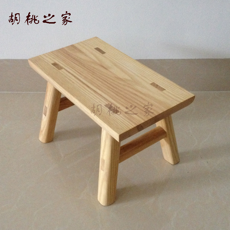 Home walnut solid wood bench child small bench stool stool wood ...