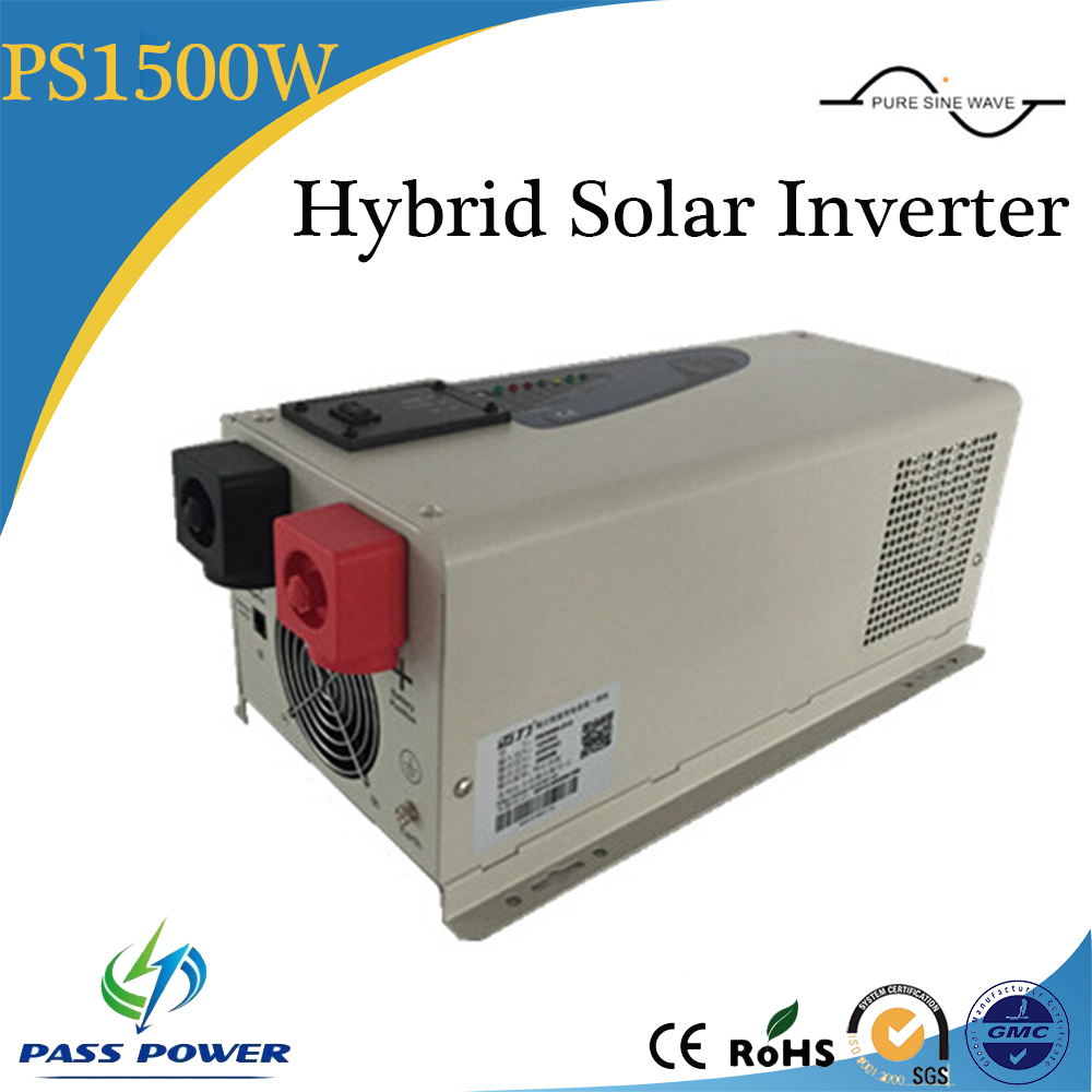 1500w off grid/hybrid solar Inverter with charger, pure sine wave solar inverter 12v/24 dc/ac, 1 phase with CE 3000w wind solar hybrid off grid inverter dc to ac 12v 24v 110v 220v 3kw pure sine wave inverter