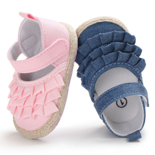 Baby Girl Shoes Toddler Bowknot Solid Color Shoes Moccasins Soft Sole Canvas Prewalker Fashion Princess Shoes 0-12M