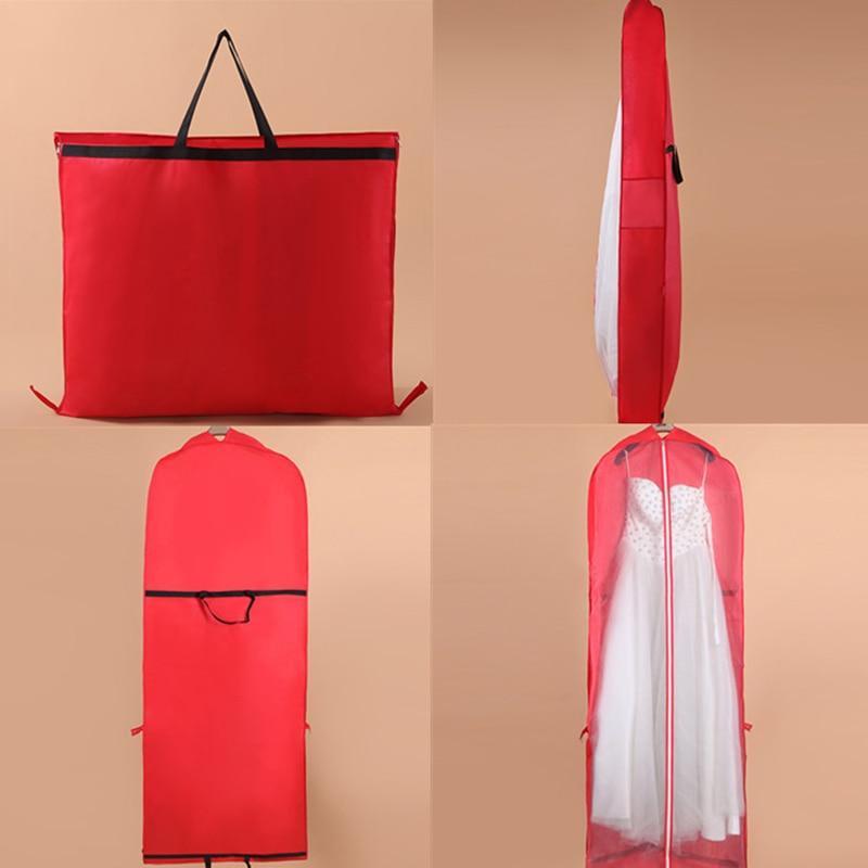 Garment Dress Cover Dustproof Storage Bag Foldable Long Bridal Wedding Dresses HFing