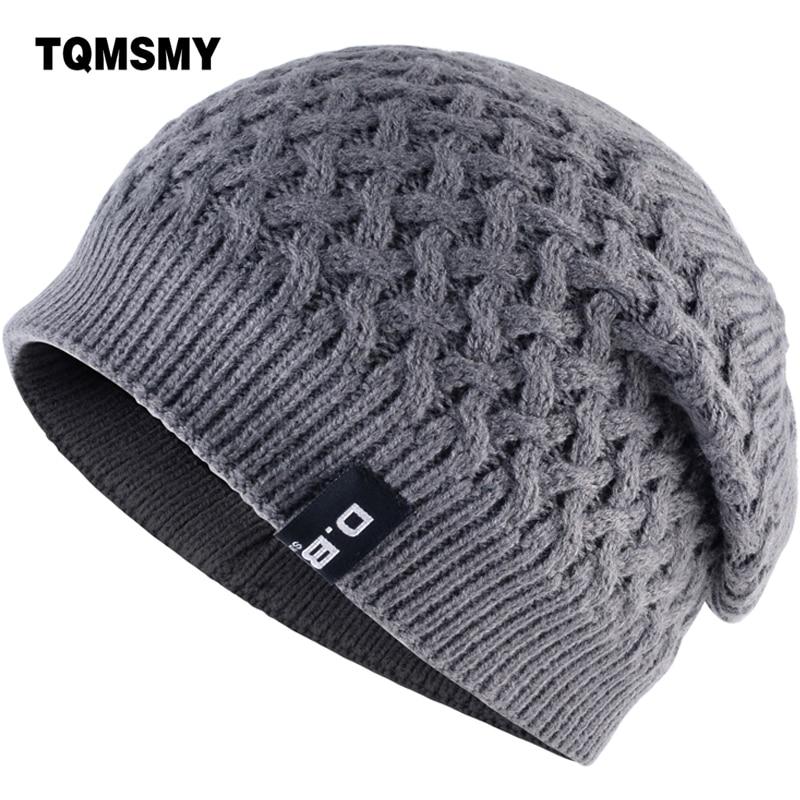 TQMSMY Warm Men Beanie Caps teenager Winter Hats For Man Knitted Beanies Hat Mesh Gorra Bonnet Bone Caps Man and Women TMD30 яблока mfi lightning для usb дата кабель зарядного устройства разъем usb для андроида ф цвета