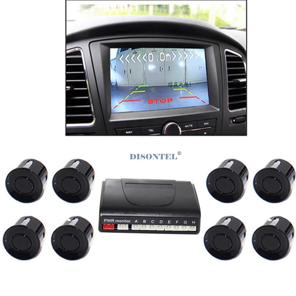 Auto Parking Sensor LCD Display monitor Parktronic sensor car detector 6 Colors Backup 8 sensors 12V backup reverse backup