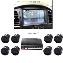 Auto Parking Sensor LCD Display monitor Parktronic sensor car detector 6 Colors Backup 8 sensors 12V backup reverse