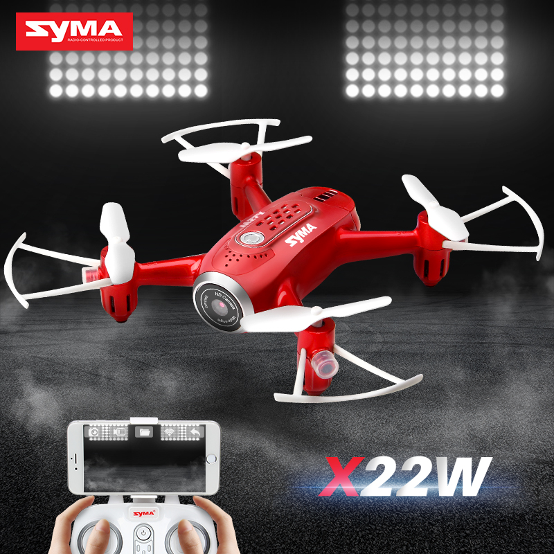 SYMA Official X22W Drones With Camera FPV Wifi Real Time Transmit Headless Mode Hover RC Helicopter
