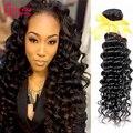 7A Virgin Malaysian Curly Hair Free Shipping 4 bundles Malaysian Deep Curly Weave Human Hair #1B Malaysian Virgin Hair Deep Wave