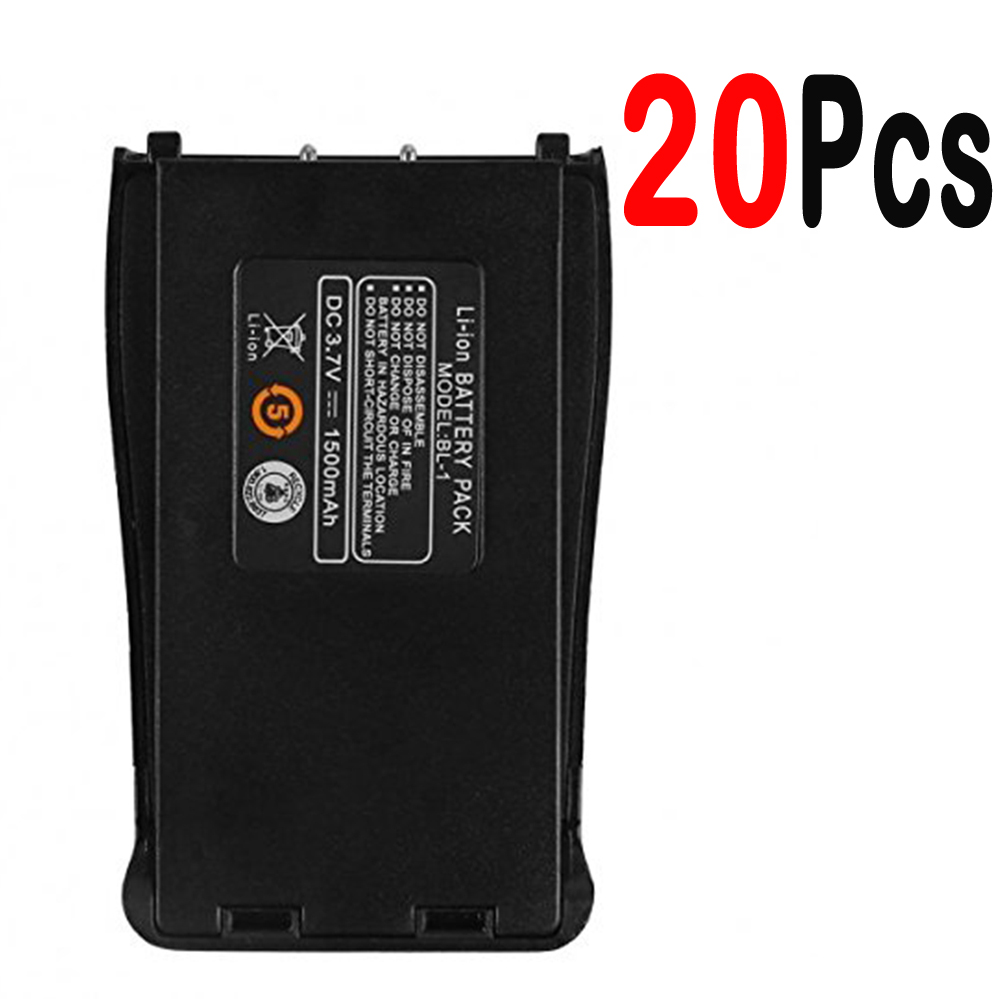 20Pcs Baofeng BF-888S 3.7V 1500mah Li-ion Spare Battery For Baofeng Bf-888S Retevis H-777 H777 Two Way Radio Walkie Talkie