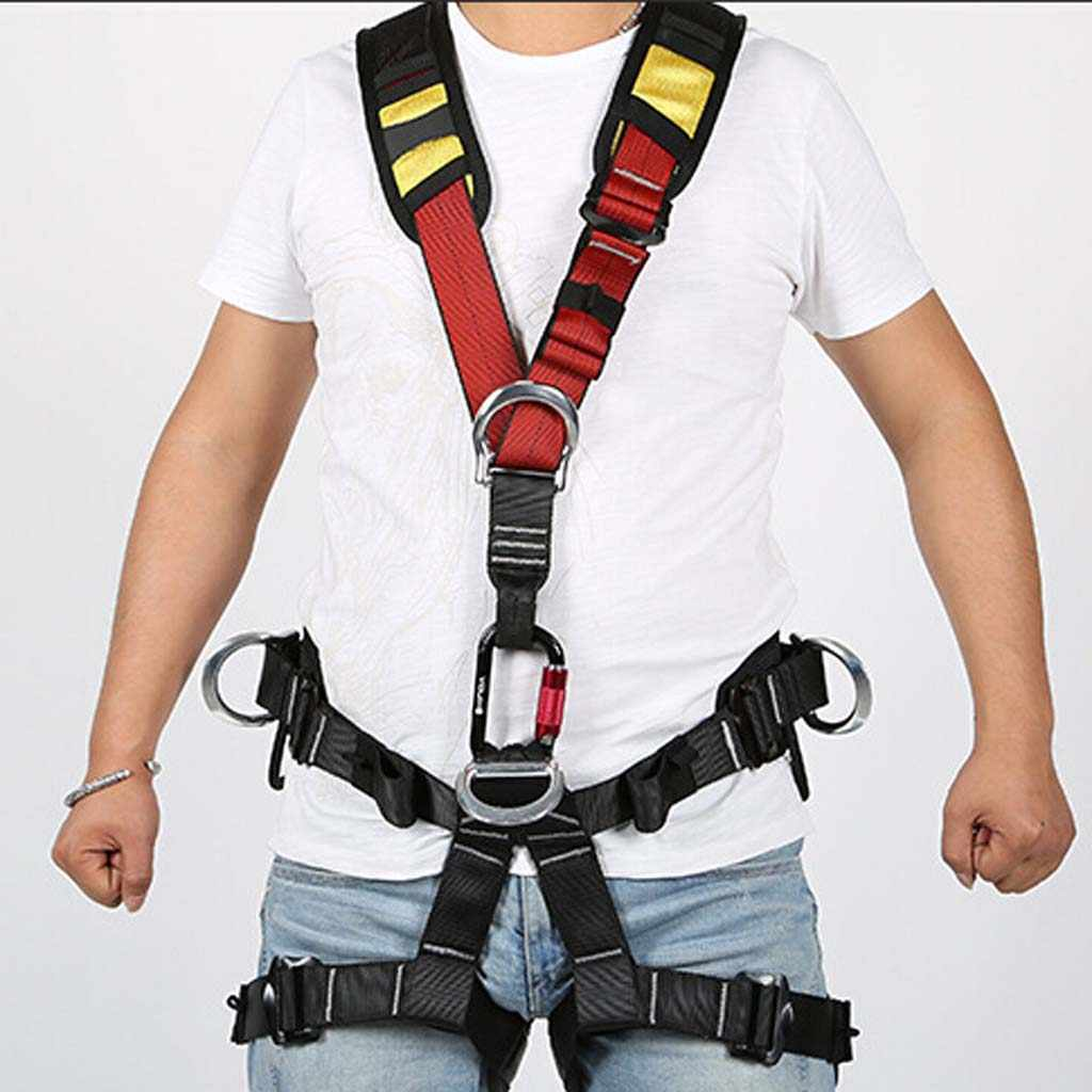 Safety Tree Carving Rock Climbing Safety Shoulder Strap For Harness Equipment Gear Camping Hiking Climbing Accessories