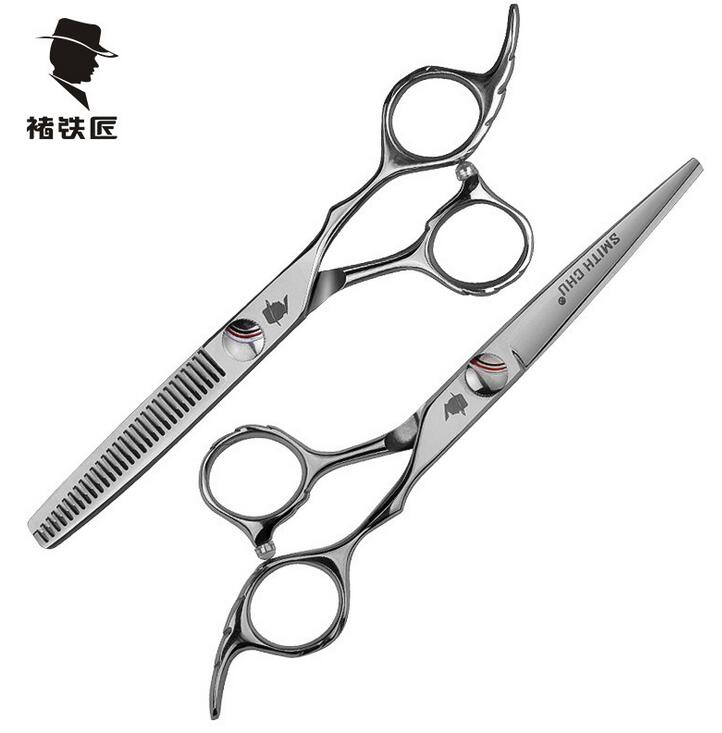 SMITH CHU top quality  6.0  Professional barber hair cutting scissor and thinning scissors S1 jm smith smith documenting an organization s computer requirements paper only