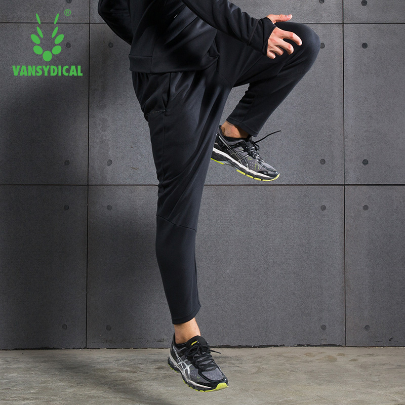 VANSYDICAL Sweatpants For Men Breathable Casual Pants SportsTrousers Running Loose Cotton Pants Fitness Training Football Pants