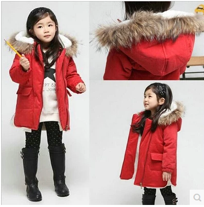 3d4af0694abc The New Winter Coat Child Girls Red Christmas Korean Fashion Thick Cotton  Padded Jacket-in Down   Parkas from Mother   Kids on Aliexpress.com