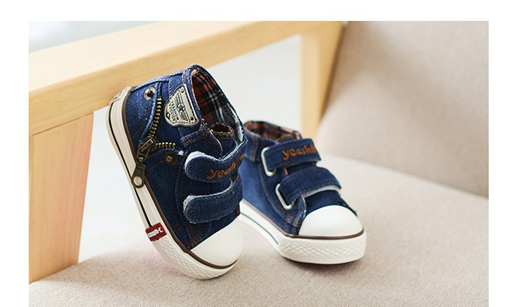 New 17 Autumn Canvas Children Shoes Boys Sneakers Brand Kids Shoes for Girls Jeans Denim Flat Boots Baby Toddler Shoes 3
