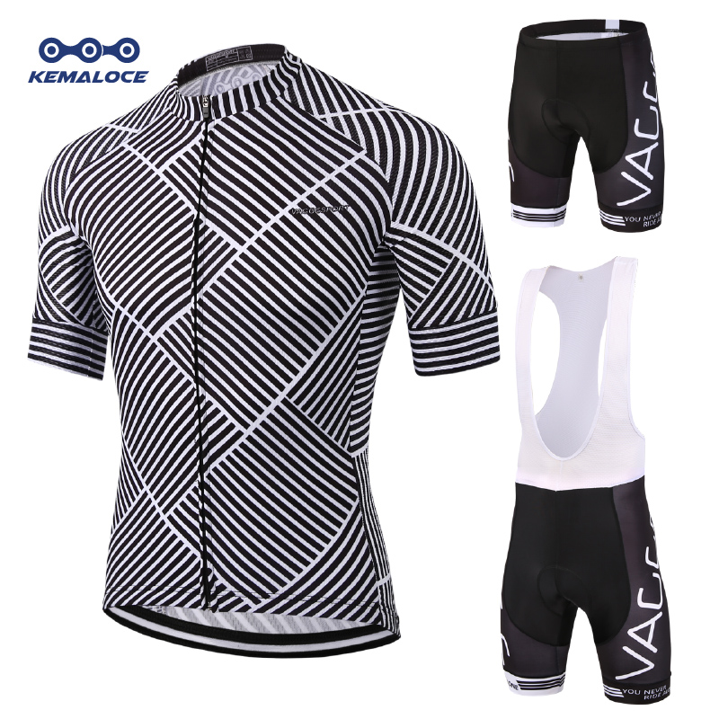 Kemaloce Breathable Men Cycling Tops Clothing Set Spring Summer Short Sleeve Bike Wear Suit Ropa Ciclismo Bicycle Jersey Uniform