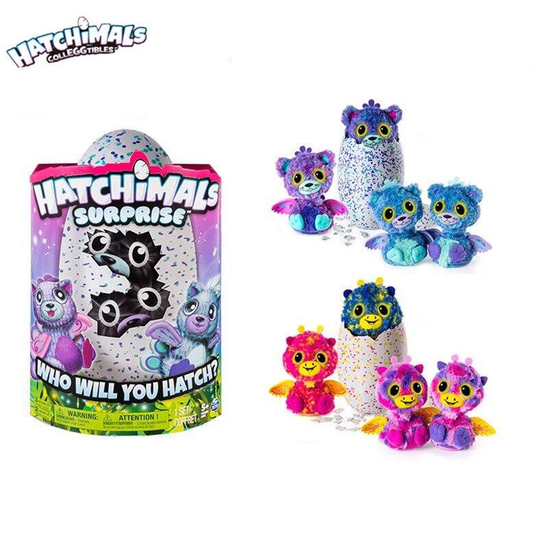 цена на Hatchimals Surprise eggs Magic Eggs Incubate Twins Egg Trolltech Intelligent Early childhood Puzzle Plush Toys for Children gift