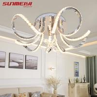 Новый светодио дный светодиодный потолочный светильник цветы кристалл декор plafonniсветодио дный led гостиная спальня современный дом освещен