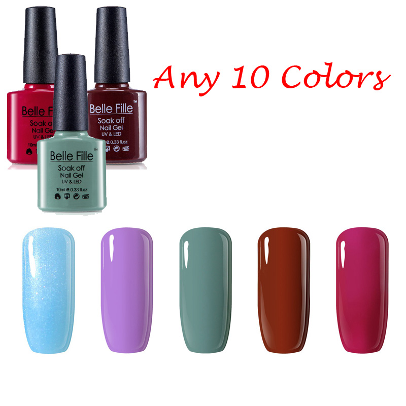 10ml Any 10 Colors Bling UV Gel Nail Polish Neon Yellow Mint Color ...