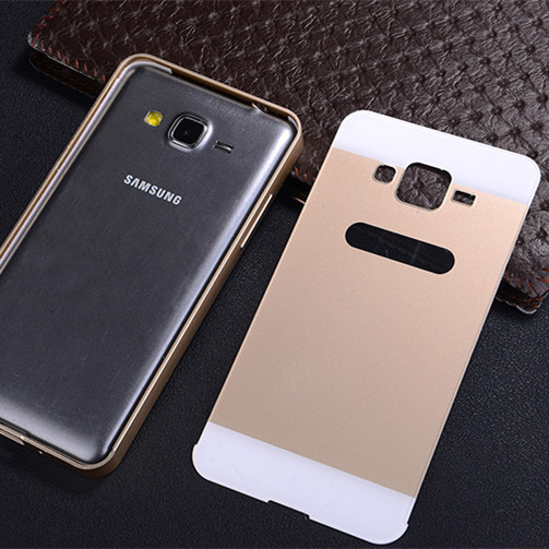 low priced f09f0 7c912 US $7.99 |JZ Dual Hybrid coque Aluminum Bumper + Back Cover For Grand Prime  ultra thin case fundas For Samsung galaxy Grand Prime G530 on ...