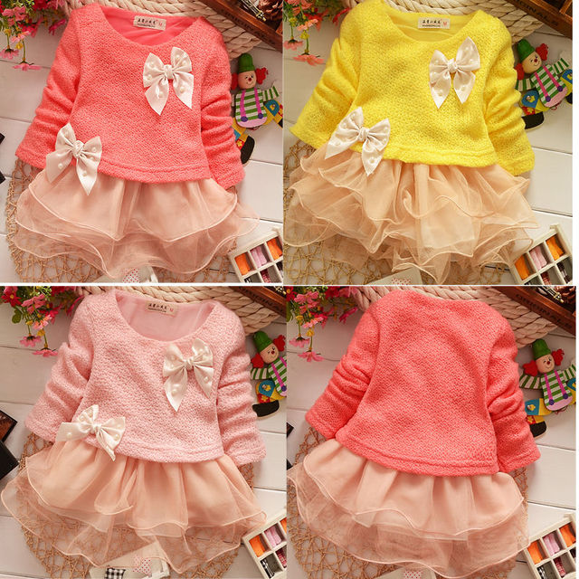 688e6d5ea T328 Toddlers Baby Girls Princess Lace Party Dresses Kids Cute Bow ...