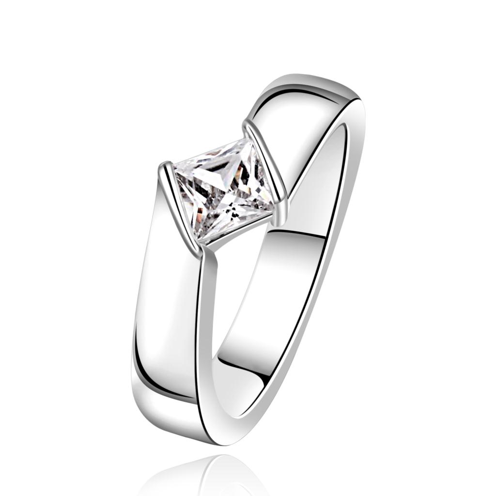 Wholesale Jewellery Korean New Designer Silver Plated Anel Feminino  Zirconia Synthetic Gemstone Rings(china (
