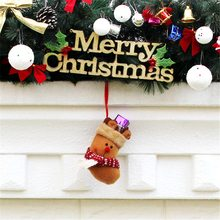 1Pcs Stockings Cute For Home Party Christmas Tree Holders Room Store Shop Festival Santa Claus Toppers Decoration Kids Gift