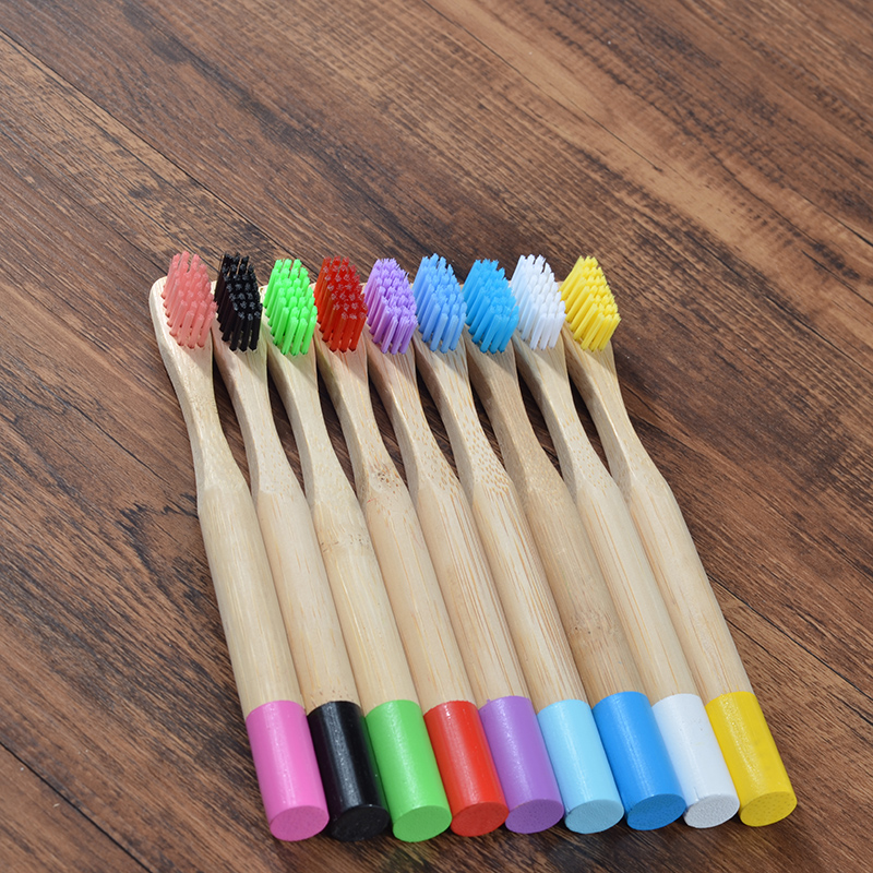 Childrens Bamboo Toothbrush 1PC Kids Soft Bristle Wooden Tooth Brush Natural Bamboo Handle Oral Care Eco Friendly Tooth Brush