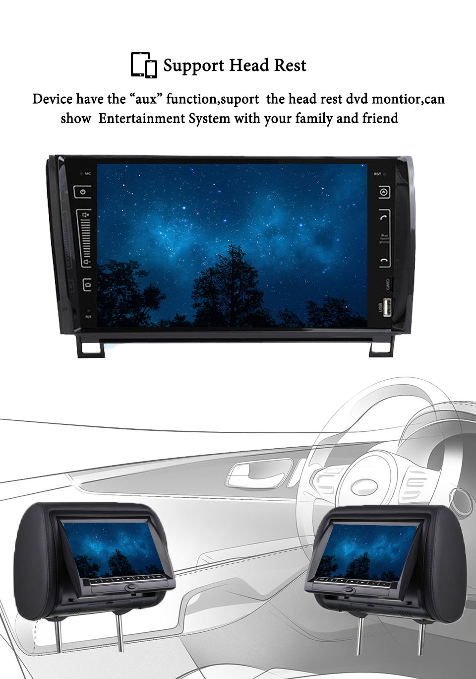 "Cheap 9"" IPS 3/4G Android 9.0 4+64G 2 DIN CAR multimedia player for Toyota Sequoia Tundra 2007-2013 RADIO stereo auto audio navigation 12"