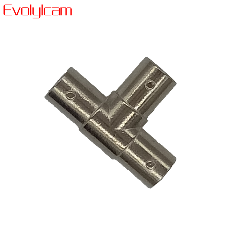 Evolylcam 5pcs/lot BNC Female To Dual/2 Female T-Splitter Connectors Adapter For CCTV Cameras System Surveillance Accessories