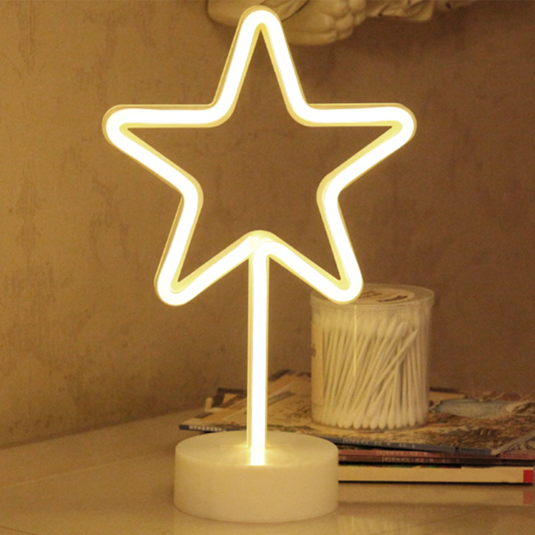LED Neon Night Light Desk Lamp Star Shape Battery Operated for Holiday Light Festival Party Wedding DecorLED Neon Night Light Desk Lamp Star Shape Battery Operated for Holiday Light Festival Party Wedding Decor