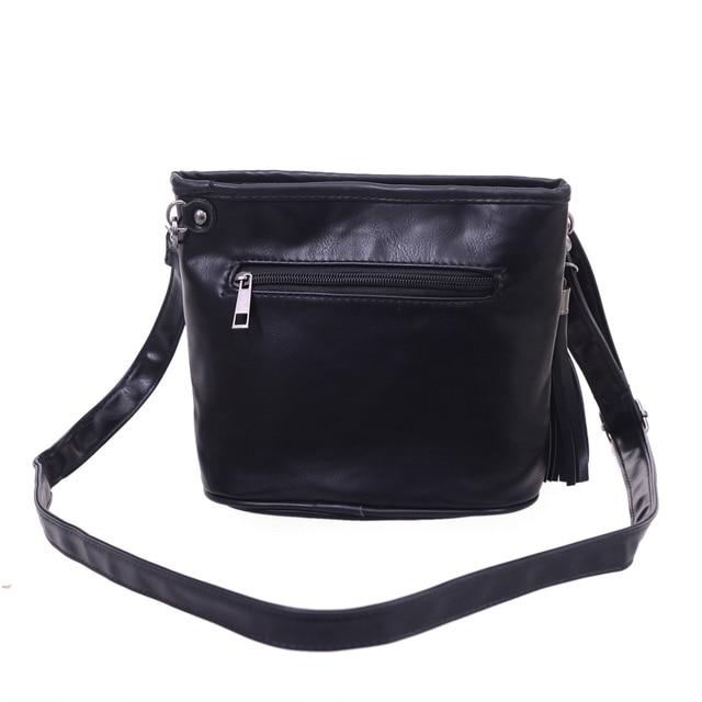 Skull Design Women Messenger Bags Handbags Shoulder Bags Satchel Clutch Girl Black Skull Crossbody Bag Bolsas Borse Feminina 3