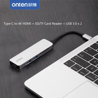 Type C To 4K HDMI TV Video Adapter Converter MicroSD TF SDHC SD Card Reader USB