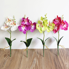 3 Heads Butterfly Orchid Artificial Flowers For Wedding Home Decor Birthday Party Silk Bridal Floral Flores