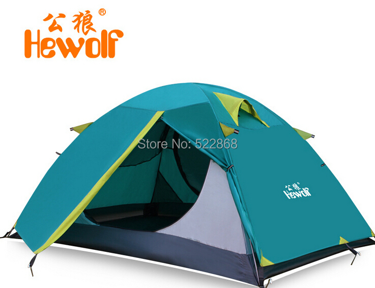 Hewolf Outdoor Camping 2 People Aluminum  Tent Tent Color:Khaki Weight:2.4KG Size:200CM*140CM*110CMHewolf Outdoor Camping 2 People Aluminum  Tent Tent Color:Khaki Weight:2.4KG Size:200CM*140CM*110CM