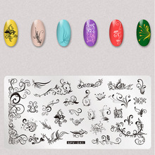 1pc Nail Stamping Kit Rectangle Plate Beauty Floral Leaves Bow Art Image Template Manicure Tools