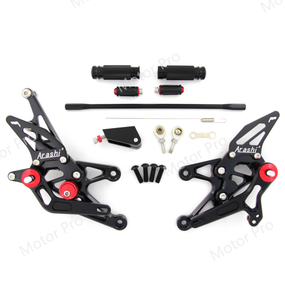 Adjustable Footrests For Yamaha YZF R1 2007 2008 Motorcycle Accessories Foot Rests Pegs Rearset Rear Set
