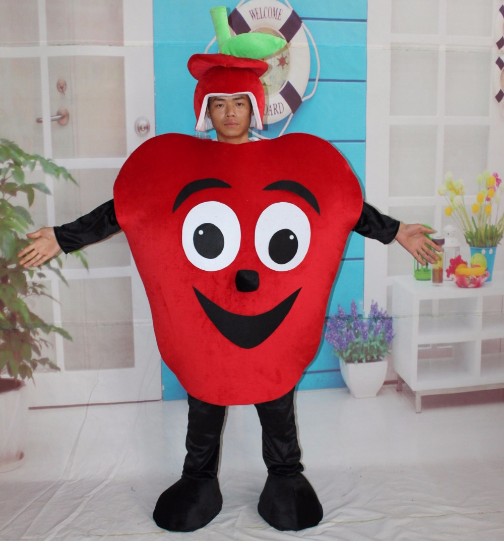 adult fruit mascot costumes red apple fancy dress costumechina - Apple Halloween Costumes