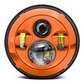 7 Дюймов Оранжевый Круглый СВЕТОДИОДНЫЙ Проектор Daymaker Высокого/ближнего света Фар Для Harley TJ JK Wrangler