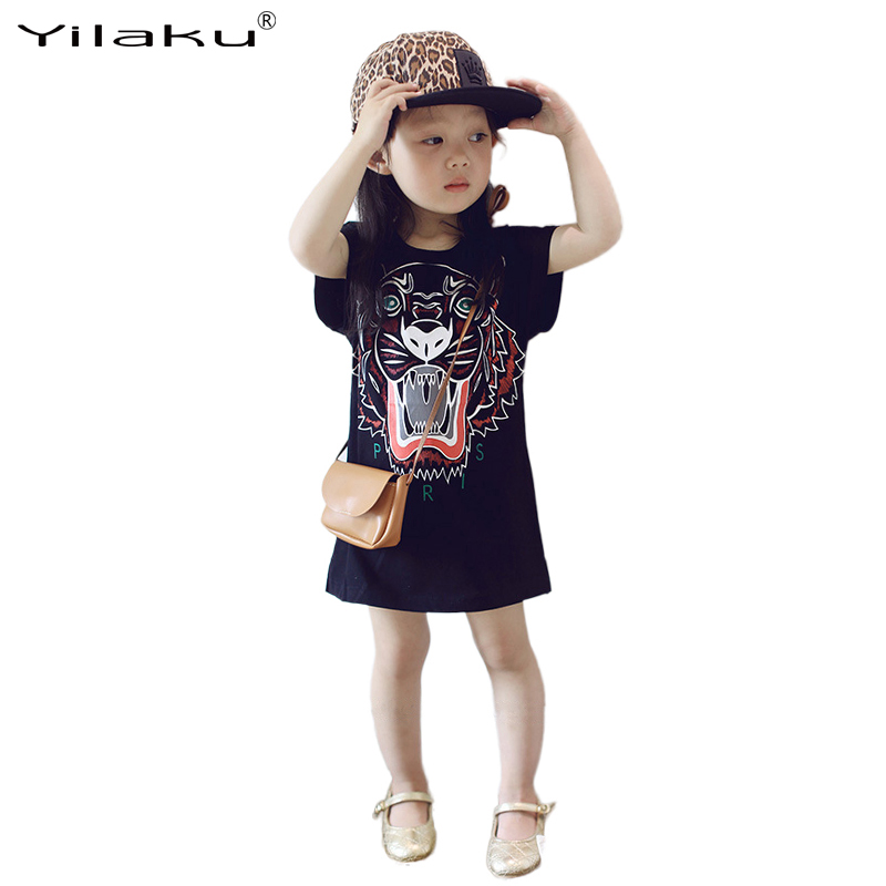 Yilaku Summer Girl Dresses Children Casual Dress Girls Tiger Printed Dress Kids Clothes for Girls Clothing 3~7 Years CA388Yilaku Summer Girl Dresses Children Casual Dress Girls Tiger Printed Dress Kids Clothes for Girls Clothing 3~7 Years CA388