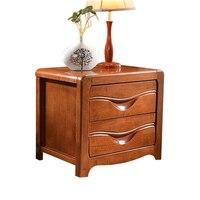 Bedside Cabinet Is Simple Modern Wood Rubber Wooden Log Color Walnut Color Lockers