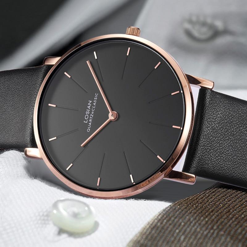 6 5mm Slim Case Men Watches Luxury Brand relogios zegarek Simple Business Men Quartz Masculine Male