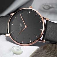 6.5mm Slim Case Men Watches Luxury Brand relogios zegarek Simple Business Men Quartz Masculine Male Clock relojes 2018 leather