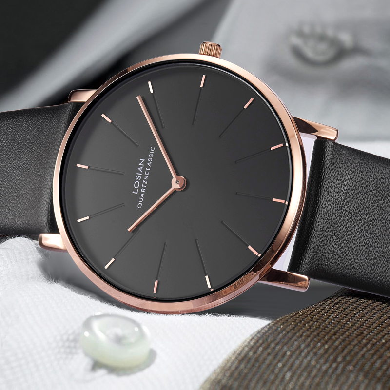6.5mm Slim Case Men Watches Ultra-thin Luxury Brand Simple Business Men Quartz Leather Watch Clock Clearance Price No Box