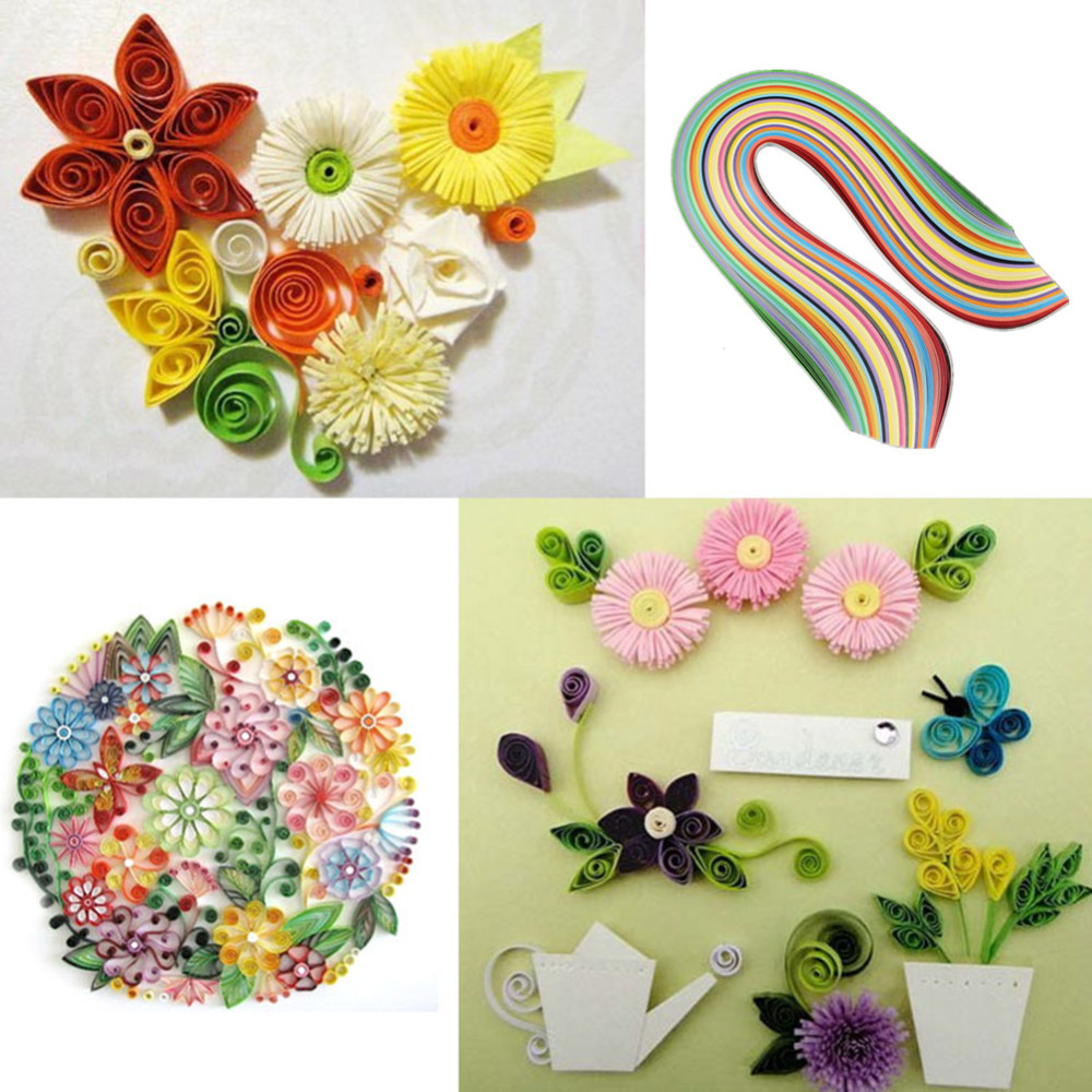 26 Colors Stripes Quilling Paper Assorted Color Origami Paper Arts ...