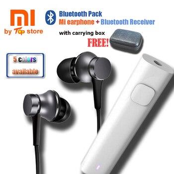 2018 oryginalny Xiao mi Xio mi mi Bluetooth Sport Pack tłok 3 słuchawki z konwerter Bluetooth odbiornik na telefon komórkowy
