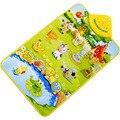 Hot Kids Baby Farm Animal Musical Music Touch Escuchar Cantar Gimnasio Alfombra Mat Toy educación juguete de Desarrollo del bebé Regalo
