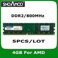 5 ШТ./ЛОТ Оптовая Новый Бренд РАМС DDR2 800 МГц PC2-6400 DIMM Памяти Для Настольных ПК БАРАНОВ Для AMD Системы