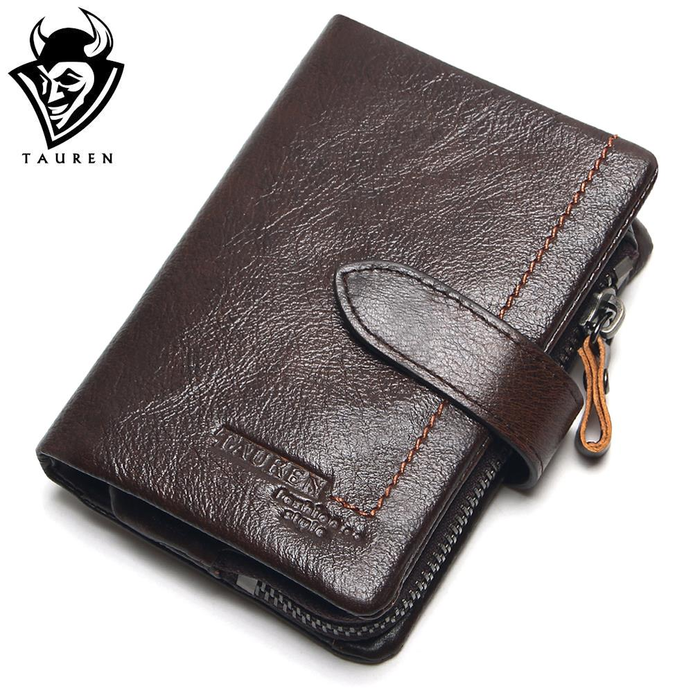 Removeable Zipper Pocket Men Vintage Wallets 100% Oil Wax Genuine Leather Wallet Fashion  Brand Purse Card Holder Coin Purse new fashion gubintu removeable pocket men vintage wallets cow genuine leather wallet brand purse card holder coin purse jan 19