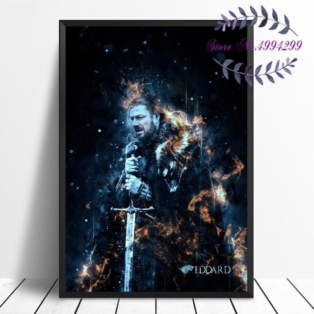 Game of Thrones Eddard Movie Art Canvas Poster Print Home Decor No Frame